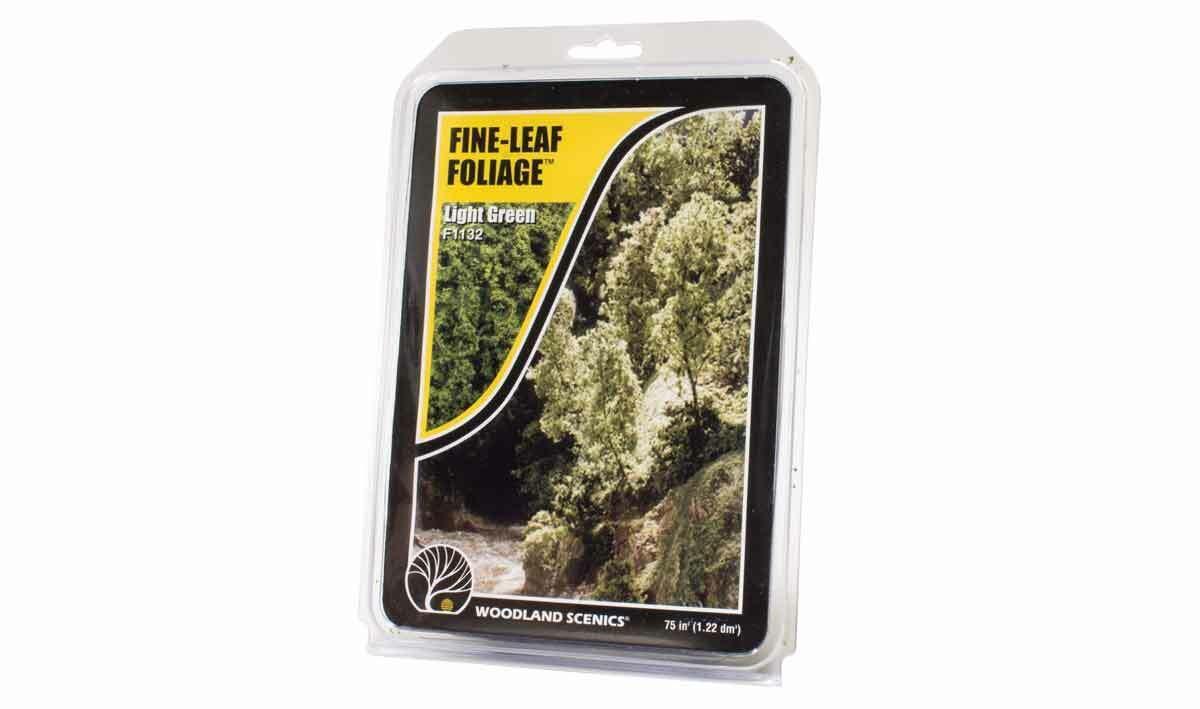Woodland Scenics ~ New 2020 ~ Fine-Leaf Foliage Light Green ~ F1132