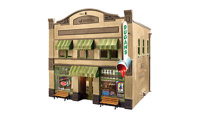Woodland Scenics BR5853 O Scale Dugan's Paint Store, Built-Up, LED Lighting 5853