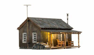 Woodland Scenics BR4955, N Scale, Built & Ready, Rustic Cabin w/LED Lighting