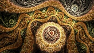 Trippy Alex Grey Abstract Silk Art Print Poster 42x24'' inch