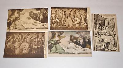 Lot  5 Vintage Old  Postcard Antwerp Early Century 1900s  Musee Royal d-Anvers