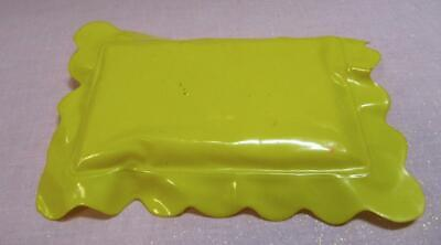 BARBIE DREAM DOLLHOUSE Doll Vinyl Plastic Yellow Bed Pillow RV Camper House blow