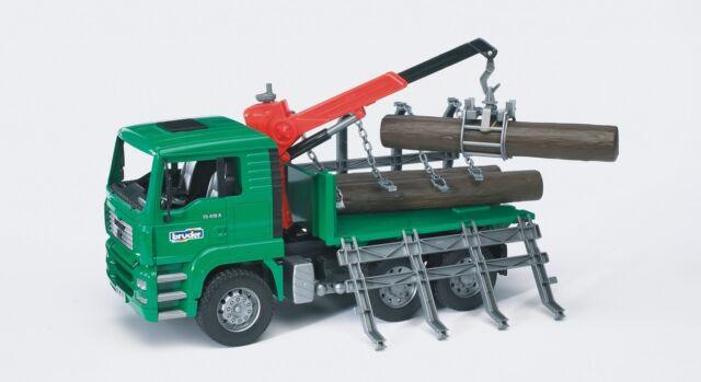 """BRUDER®  02769 """"MAN Holztransport-LKW mit Ladekran und 3 Baumstämmen"""", NEU & OVP"""