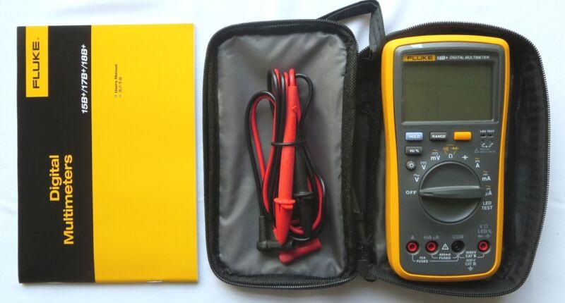 NEW FLUKE Digital Multimeter F18B+ LED Tester 18B+ Voltmeter with FLUKE BAG
