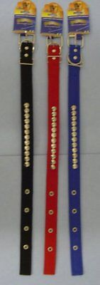 "6 BRAND NEW 22"" STUDDED NYLON DOG COLLARS , ONLY $2.50 EACH , FREE SHIPPING !!!"