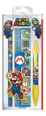 Nintendo Super Mario Charaktere offiziell Schreibwaren Set Schule Bleistift Line ()