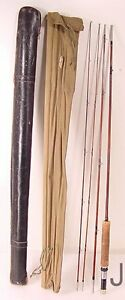 Vintage split bamboo fishing rods ebay for Vintage fishing rod identification
