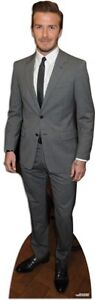 Beckham, David wearing Suit LIFESIZE CARDBOARD CUTOUT STANDEE STANDUP Footballer