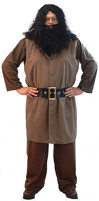 Fancy Dress/Magic/Wizard School/Potter HAGRID GIANT COSTUME With Wig & Beard