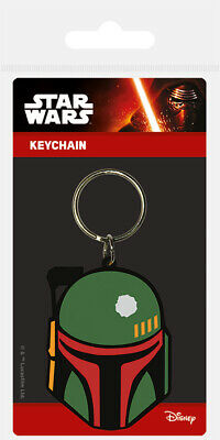 Star Wars (Boba Fett) Rubber Keychain Keyring NEW - FAST UK DISPATCH