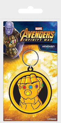 Avengers Infinity War Infinity Gauntlet Rubber Keychain Keyring Metal Rubber