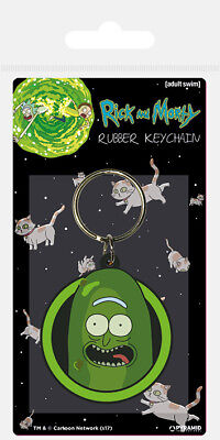 Rick And Morty Pickle Rick Rubber Keyring Keychain Official Product