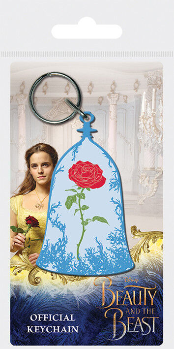 Beauty and the Beast Movie Enchanted Rose Rubber Keychain Bag Charm