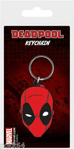 Marvel Comics key ring rubber Deadpool Face 2in keychain 38556