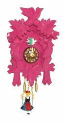 ISDD Kuckulino Black Forest Clock with quartz movement and.. TU 2002 SQ pink NEW