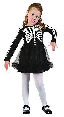 Skelett Tutu Kleid Mädchen Kleinkind Halloween Kostüm Neu Alter - Kleine Mädchen Tutu Schwarz Kostüm