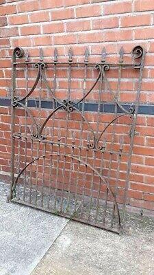 Genuine Antique Cast Iron Victorian Gate Black Smith Forged / Made All Original