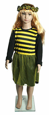 2teiliges Kinder Mädchen Bienen Fasching Karneval Kostüm