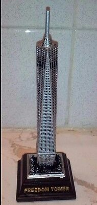 (Freedom Tower New York City brown base 5.5 inches high one world trade center)