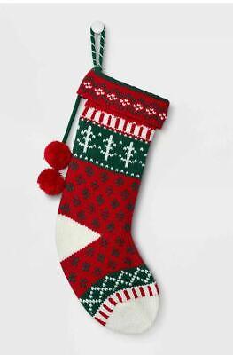 New   Wondershop Fair Isle Pattern Christmas Stocking Red   ()