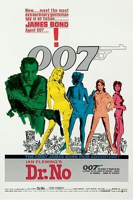JAMES BOND ~ DR NO FIRST FILM ADVENTURE 24x36 MOVIE POSTER Sean Connery 007