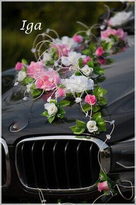 Boda Flores Artificiales Coche Decoración Lazos Graduación Limousina Iga
