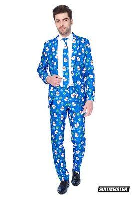 Christmas Blue Snowman Schneemann Anzug Suitmeister Slimline Economy 3-teilig ()