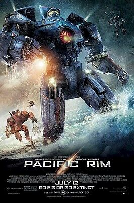PACIFIC RIM ~ REGULAR 24x36 ONE SHEET MOVIE POSTER ~  del Toro Gipsy Danger for sale  Colorado Springs