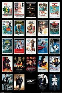 James Bond 007 - Movie Posters Collage POSTER 61x91cm NEW * Spectre Skyfall