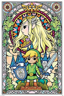 The Legend Of Zelda (Stained Glass) - Maxi Poster 61cm x 91.5cm - PP33735 - F008