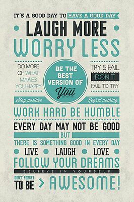 TER WALL ART DECOR INSPIRATION MOTIVATION HAPPY PEACE LOVE!! (Awesome Motivations-poster)