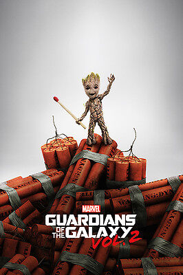 GUARDIANS OF THE GALAXY VOL. 2 - MOVIE POSTER / PRINT (BABY GROOT ON DYNAMITE)
