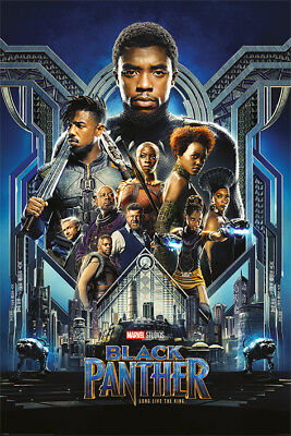 "BLACK PANTHER - MARVEL MOVIE POSTER / PRINT (REGULAR STYLE) (SIZE: 24"" x 36"")"