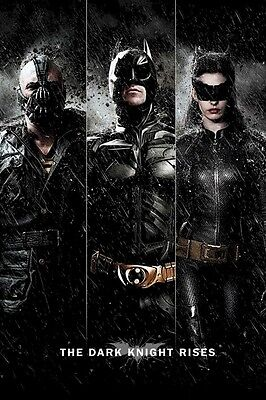 BATMAN THE DARK KNIGHT RISES ~ TRIPLE RISE 24x36 MOVIE POSTER Bane Catwoman](Catwoman Batman The Dark Knight Rises)