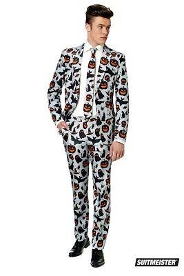 Kürbis Halloween Anzug grau Anzug Suitmeister Slimline Economy 3-teilig