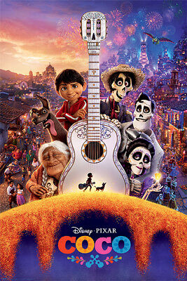 COCO - DISNEY / PIXAR MOVIE POSTER (REGULAR STYLE B - GUITAR & SKELETONS)