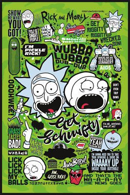 NEW * RICK AND MORTY * QUOTES MAXI POSTER 62cm X 91cm PP34261 no67