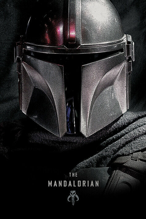STAR WARS THE MANDALORIAN POSTER DARK MASK VERSION Size 24x36
