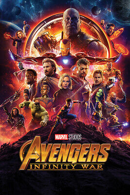 Avengers Infinity War Movie Poster, US Version, Size 24x36