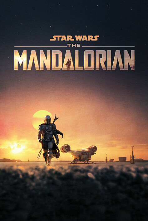 STAR WARS THE MANDALORIAN POSTER ADVANCE USA VERSION Size 24x36