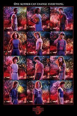 STRANGER THINGS 3 CAST POSTER, size 24x36