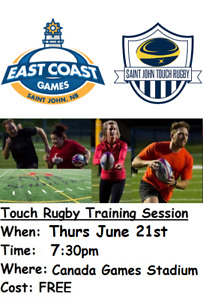 FREE - Co-Ed Touch Rugby Training Session (18+)