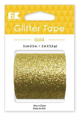 Best Creation Wide Glitter Tapes - 50mm by 5m - Available in 4 colors - (1