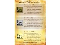 Writing for Websites, Marketing and Creative projects. Editing & Proof Reading services, wide range