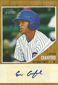 EVAN-CRAWFORD-Auto-2011-Topps-Heritage-Minor-Lg-CUBS-autograph-234-861-rc