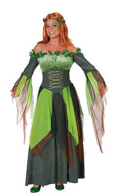 Waldfee grün Gr. 36 - 48 Kostüm Fee Fasching Karneval Hexe Nymphe Kleid Wald