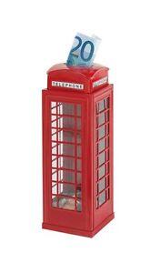 Spardose englische Telefonzelle rot aus Metall *NEU* London England