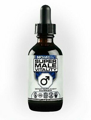 Infowars Life  Super Male Vitality Mens Health Supplement 2 Oz  By Alex Jones