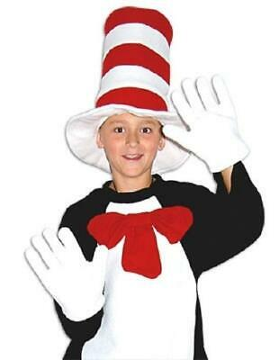 Cat in the Hat Bow Tie Gloves Children Accessories Boys Girls Book Week Dr Seuss