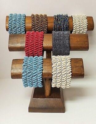 Walnut Color Wood Bracelet Display